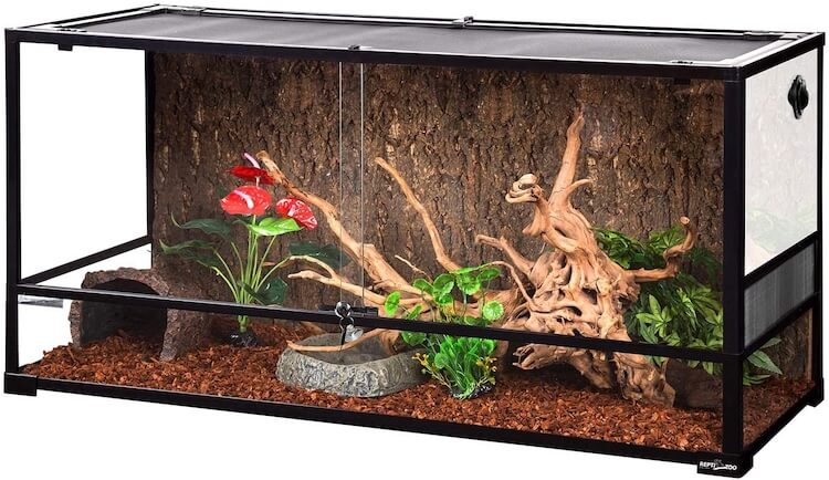 REPTI ZOO 85-Gallon Glass Reptile Terrarium