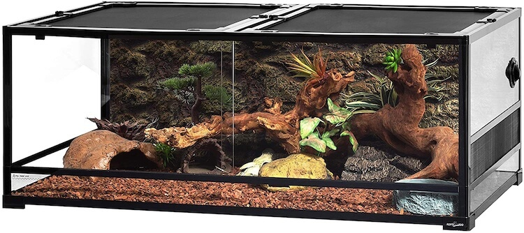 REPTI ZOO Glass 85-Gallon Reptile Enclosure